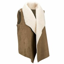 New Chelsea & Theodore Women's Draped Open Front Faux Fur Vest Variety C... - $39.99