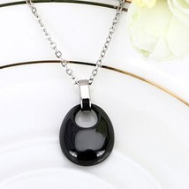 Fashion Ceramic Water Drop Necklace Black White Pink Pendant Necklace For Women  - $9.23