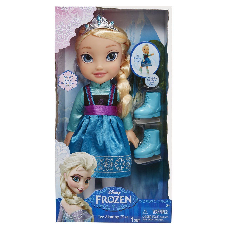 Image 2 of Ice Skating Princess Elsa Frozen Toddler Doll Disney, 3+ Years