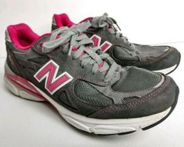 New Balance 990v3 Running Shoes Purple Gray & Pink Women's size 8.5 AA N... - $28.85