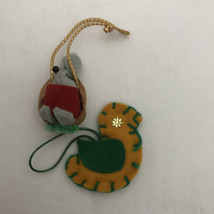 Mouse and Bird ornament - $10.00