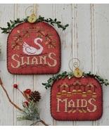 12 Days: Swans Maids cross stitch chart Hands O... - $9.00
