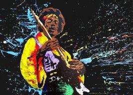 Jimi Hendrix  Poster  2.5 x 4.5 Fridge Magnet - $4.99
