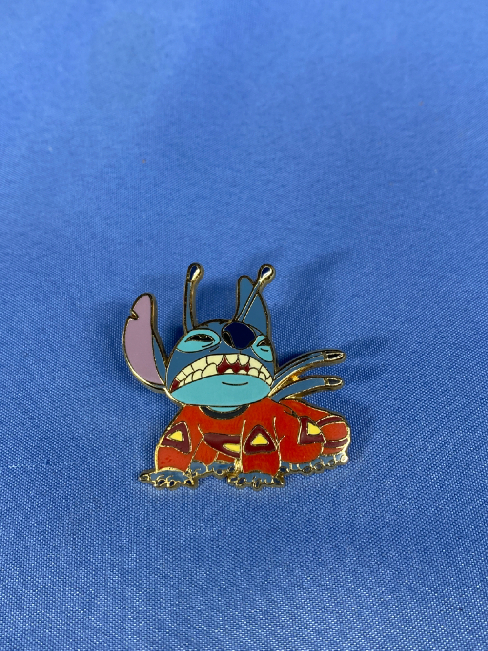 Primary image for Blue Alien Stitch Crawling in Space Suit Disney pin