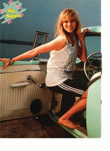 Debbie Gibson teen magazine pinup clipping barefoot in a car by the beach