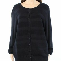 Sweater 0X Plus Charter Club NWT Black Textured Button Down Cardigan TM119 - $16.82