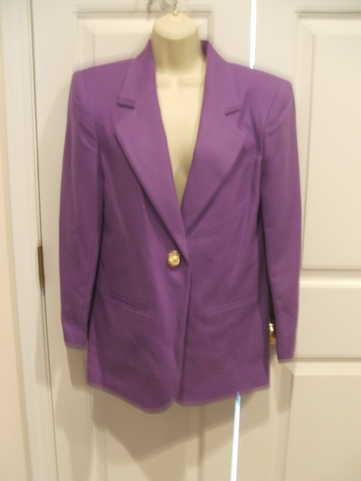 Primary image for NWT $149 SAVANNA  100% WOOL IRIS PURPLE  car coat blazer jacket size 4