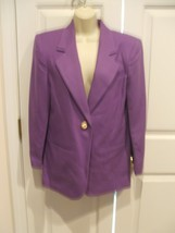 NWT $149 SAVANNA  100% WOOL IRIS PURPLE  car coat blazer jacket size 4 - €58,22 EUR