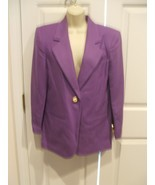 NWT $149 SAVANNA  100% WOOL IRIS PURPLE  car coat blazer jacket size 4 - £54.45 GBP