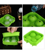 3 Pack Green Whiskey Ice Cube Ball Maker Mold Sphere Mould Party Tray Ro... - $15.99