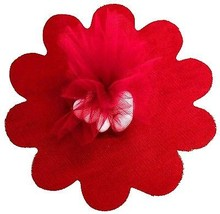 "Red Tulle Circles with Petal Edge 25/pkg. 9"" / 23 cm - $2.93"