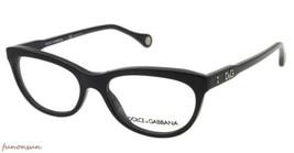 Dolce & Gabbana Donna Occhiali da Vista D&g DD1245 501 Nero Ovale Plastica - $87.21
