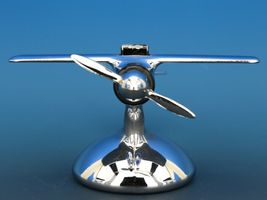 Art Deco Streamline Dollin Diecasters Co. Nickel Plated Airplane Lighter  image 5