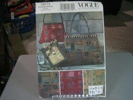 Vogue Marcy Tilton V8173 Handbags Pattern - 17 X 13 - 14 X 9 - 7.5 X 9.5 - $10.88