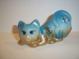 "Fenton Glass ""Under The Sea"" Crouching Cat Kitten Figurine Ltd Ed #2/8 K... - $183.82"