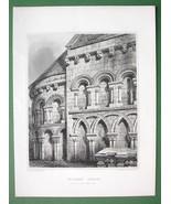 SCOTLAND Leuchars Church North Part View - 1852 Antique Print Engraving - $16.20