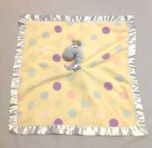 Blankets & Beyond Yellow Blue Pink Purple Polka Dot Giraffe Security Bla... - $14.99