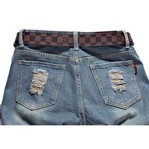 High quality men's jeans Casual  hole jeans men balmai jeans men denim trousers  image 10