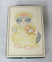 Vintage Kitty Cucumber 1983 Merrimack Mini Puzzle in Matchbox Kitten Dol... - $14.36