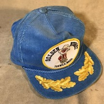 Vintage Corduroy Otto Cap Golden Nugget Adjustable Baseball Hat - $19.79