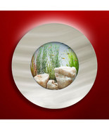 NEW! ORIGINAL AUSSIE AQUARIUM - PORTHOLE BRUSHED ALUMINUM WALL MOUNTED F... - $149.95