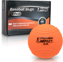 Precision Impact Slugs With Laces: Heavy Weighted 15Oz Baseballs For Hit... - $36.62