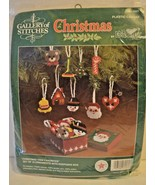 Bucilla Gallery of Stitches Christmas Tree Favorites Keepsake Box 18 Orn... - $19.79