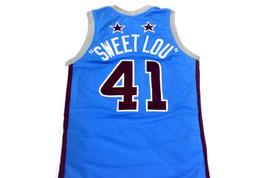 Sweet Lou #41 Harlem Globetrotters Men Basketball Jersey Light Blue Any Size image 2