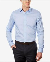 Michael Kors Men's Blue Airsoft Stretch Slim Fit Dress Shirt Size 16 34/35 - $20.70
