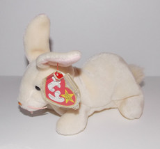 Ty Beanie Baby Nibbler Plush 7in Bunny Rabbit Stuffed Animal Retired Tag... - $9.99