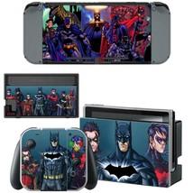 Nintendo Switch Joy-Con Dock Console Vinyl Skin Decals Stickers DC Comic Batman - $9.41