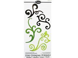 Sizzix Sizzlits Decorative Flourish Set #556538, Set of 3