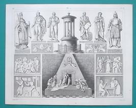 SCULPTURE Art Thorwaldsen Canova Gutenberg Duchess of Saxe - 1844 Superb... - $16.20