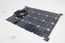 Aims Power 60W Flexible Bendable Slim Solar Panel 10 Amp Charge Controller - $110.92