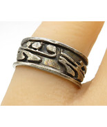925 Silver - Vintage Tribal Design Band Ring Sz 8 - R3435 - $24.85
