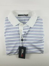 New with Tag MENS LARGE RLX RALPH LAUREN White/Blue/Purple Stripes Polo ... - $34.99