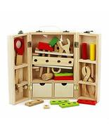 DANNI Kids Wooden Multifunctional Set Tools Toy Wood Maintenance Box Wre... - $49.17