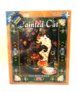 White Mountain Jigsaw Puzzle 1000 Piece Painted Cat Made in USA 24 x 30 ... - $26.72
