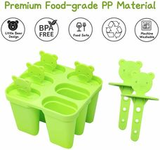 Popsicle Molds, Set of Six with Cute Little Bear Handles image 3