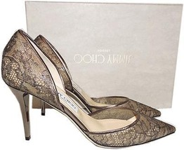 Jimmy Choo Lace Pointy Toe Addison D'orsay 85Mm Pump 39.5 Sandals Heel S... - $409.00