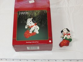 Carlton Cards Heirloom Collection Christmas Stocking Full of Fun Puppy - $16.92