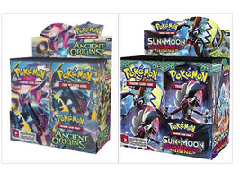 Pokemon TCG Guardians Rising + Ancient Origins Booster Boxes Sealed Sun & Moon - $214.99