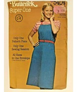 Vintage Butterick All Sizes Sewing Pattern 5404 Womens Jumper Loose Fitting - $9.70