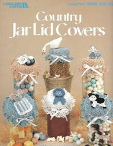 Country Jar Lid Covers to Crochet in Thread Leisure Arts 858 1989 - $4.15