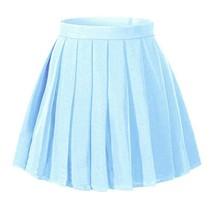 Girl's Dress up Cosplay Costumes High Waist School SkirtS,Light blue - $503,42 MXN