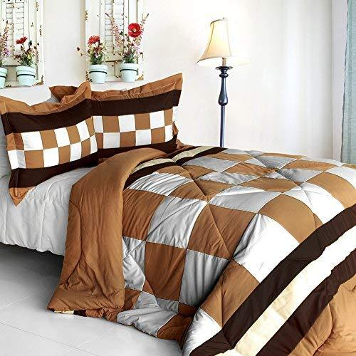 [Happy Song] Quilted Patchwork Down Alternative Comforter Set (Full/Queen Size)