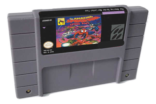 The Amazing Spider Man Lethal Foes SNES 16-Bit Game Cartridge English US NTSC Ve - $21.05