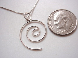 Small Spiral Wire Necklace 925 Sterling Silver Corona Sun Jewelry - $14.97