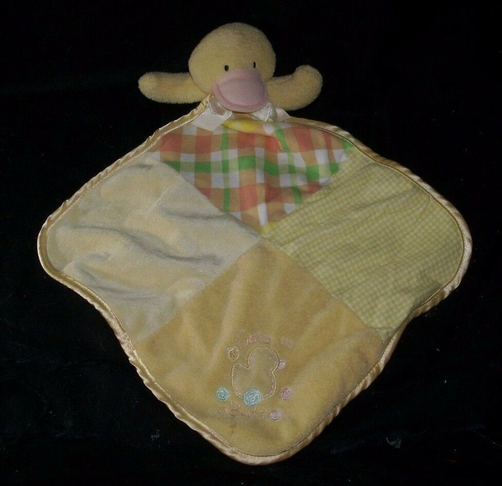 Primary image for BABY ESSENTIALS YELLOW DUCK CUTE AS A BUTTON SECURITY BLANKET STUFFED PLUSH TOY