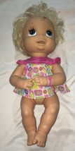 Baby Alive Interactive Doll 2006 Soft Face Talks Eats Poops Blonde Hair ... - $42.57